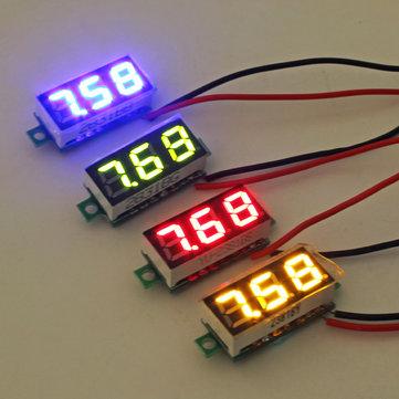 0.28 Pollici 2.5V-30V Mini Voltmetro Digitale Testatore di Tensione