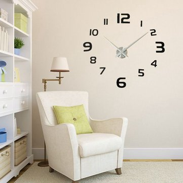 Buy 3D DIY Modern EVA Round Number Wall Clock Sticker Home Decoration