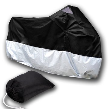 Motorcycle Scooter Waterproof Protective Rain Cover XL Black