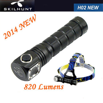 SKILHUNT New H02 Cree XM-L2 CW/NW5-Mode 820LM LED Headlamp