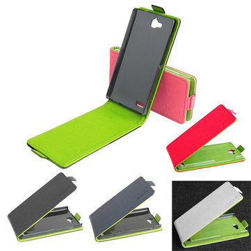 Hit Color Flip PU Leather Protective Case Cover For Huawei Honor 3C
