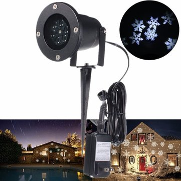 led flocon lumi re paysage projecteur jardin ext rieur. Black Bedroom Furniture Sets. Home Design Ideas