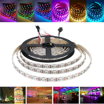 AUDEW 1M/4M/5M RGB SMD5050 WS2812 300 LED Flexible Strip Light Addressable Xmas Party Decor DC5V