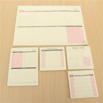 Day weekly Monthly Plan Note Schedule Book Memo Office Desktop Study