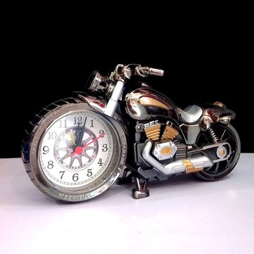 4 Colors Motorcycle Alarm Clock Watch Motorbike Home Vintage Decorative Plastic Cool Gift