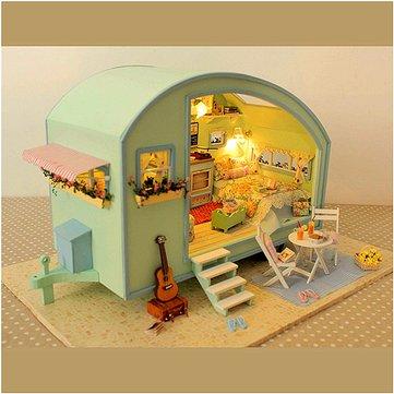 Cuteroom DIY Wooden Dollhouse Miniature Kit Doll house LED+Music+Voice Control 1032415