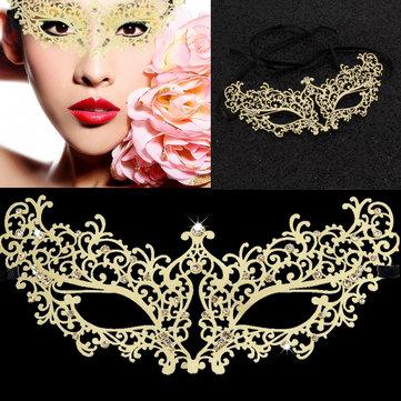 Diamante do ouro metal máscara de olho masquerade fontes do partido do traje bola maquiagem