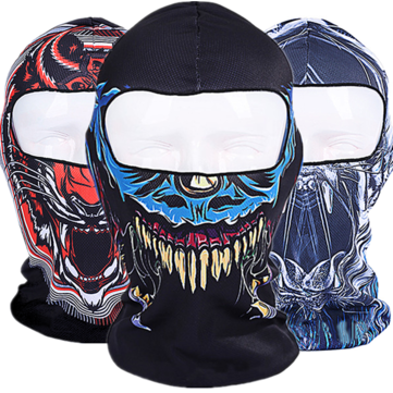 3D Skull Cycling Motorcycle Full Face Kini Ski Balaclava Mask UV Protect Full Face Mask