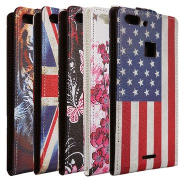 Colored Drawing Pattern Protective Leather Case For UMI Iron Pro