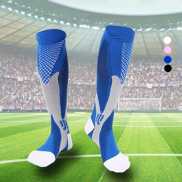 1 Pair Nylon Varicose Vein Anti Fatigue Leg Foot Support Stretch Compression Knee High Socks Sports
