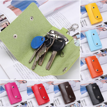 Buy Handy PU Leather Keychain Pendant Credit Card Holder Buckle Case Wallets Purse Organizer Storage Bag