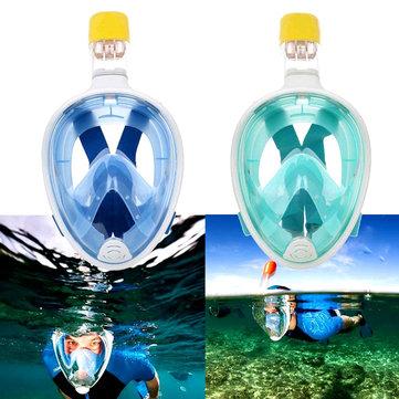 Silicone visage plein sec plongée lunettes masque de plongée lunettes vitesse lentille de plongée sous l'eau