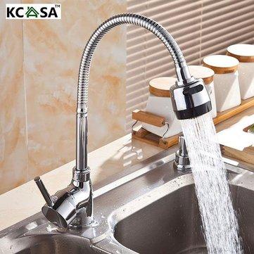 Dual Water Spout Flexible Kitchen Faucet