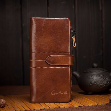 Men Leather Clutch 財布 Genuine Leather Vintage 財布s With Coin Purse and Card Holder