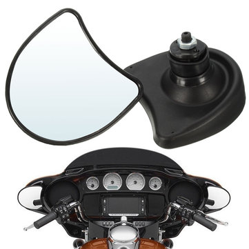 Fairing Mount Wing Rear View Mirrors 10mm For Harley Davidson Street Glide FLHX