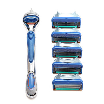 GFLV Manual Razor Shaver Handles Hoders for Gillette Compatible with 5 Layers Razor Blade Series