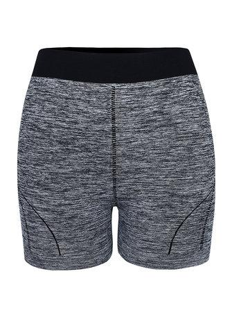 Mulheres casuais seamless hip -se da aptidão Yoga calções meados calça esporte cintura