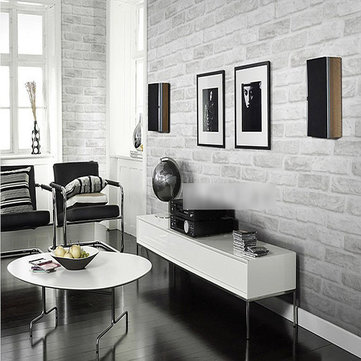 Buy 3D Brick Pattern Wallpaper Roll White Grey Textured Home Improvement Wall Decor 10m