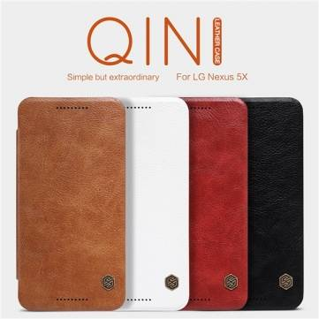 Nillkin Qin Series Slip Leather Protective Case Cover Skin for LG Nexus 5X