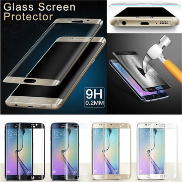 Full Curved 3D Plated Anti-Explosion Tempered Glass Screen Protector for Samsung Galaxy S6 Edge Plus