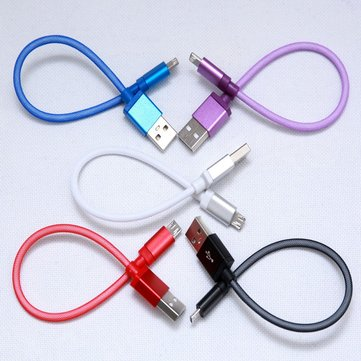 22cm USB 2.0 To Micro USB Fish Net Data Transfer and Charge Cable For Smartphone