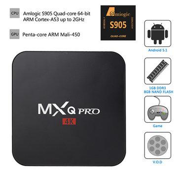 MXQ Pro 4K Ultimate KODI Android 5.1 Lollipop Amlogic S905 Quad Core 1GB\/8GB TV Box Android Mini PC
