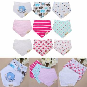 3pcs les gosses de bandana cotonniers nourrissant le b b de gant de toilette lavable essuient. Black Bedroom Furniture Sets. Home Design Ideas
