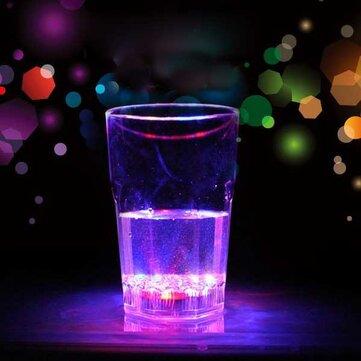 Grande indutiva octagonal LED vinho whisky bar clube copo de bebida copo luz da noite copo de vidro