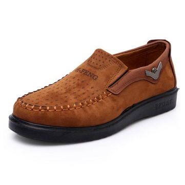 Men Slip On Suede Casual Outdoor Flat Shoes