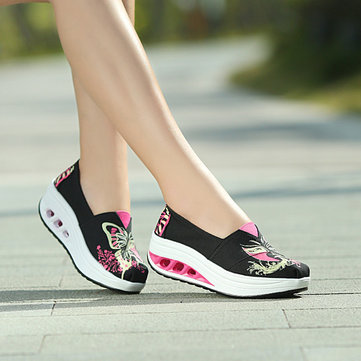Buy Shoes Women Casual Rocker Sole Breathable Outdoor Sport Soft Canvas Athletic