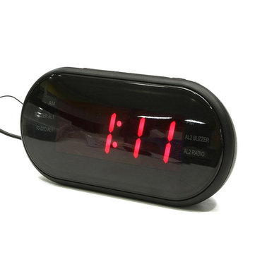 VST-902 Red LED Display Digital AM/FM Radio Alarm Clock With Buzzer Snooze Function