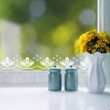 Buy 240cm Window Showcase Lace Decal Stickers Romantic White Floral Decals Wall Decor