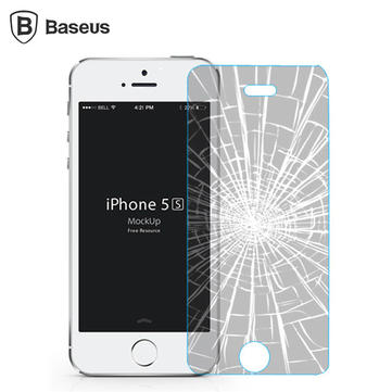 BASEUS 0.3mm 2.5 D Arc Edge Explosion-proof Tempered Glass Screen Protector Film For iPhone 5 5S 5C