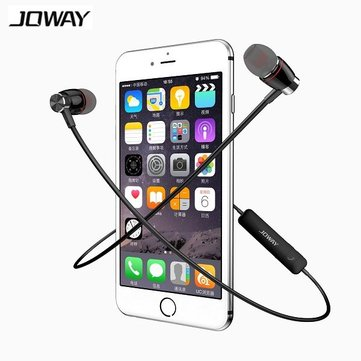 JOWAY H08 Metal Cavity Sport Stereo Wireless Bluetooth 4.0 Earphone Headset With Mic