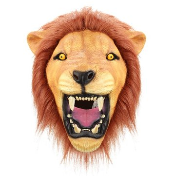 Buy Creepy Angry Lion Mask Halloween Animal Eco-friendly Latex Rubber Costume