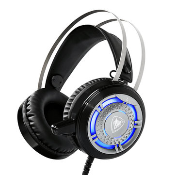 NUBWO N1 LED 50mm Drive Unit Noise-Canceling Suspended Head Beam Stereo Gaming Headphone with Mic