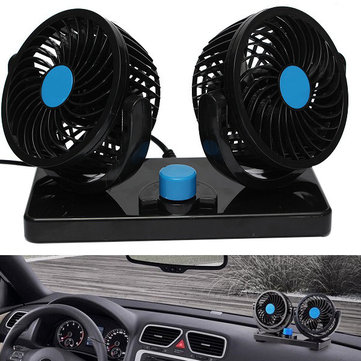 12V 360 Degree All-Round Mini Air Cooling Fan adjustable Portable Cooler Summer