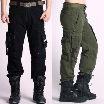 Buy Outdoor Military Tactical Cargo Pants Multi Pockets Mountaineering Long Trousers