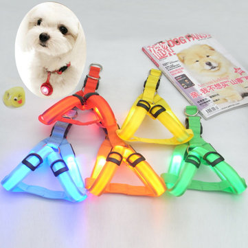 Pet Dog LED Harness Flashing Light Night Safety