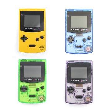 Kong Feng gb colore classico ragazzo console di gioco portatile con retroilluminazione 66 giochi incorporati
