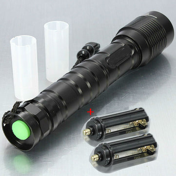 MECO XM-L T6 3600LM Zoomable LED Flashlight 2x18650