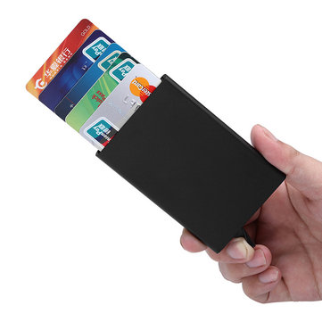 Business Card Slots Automatic Pop-Up Card Case 5 Credit Card Slots  Aluminum Card Holder