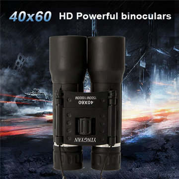 Professional 40x60 Binocular Outdoor Hunting Travel Handheld Glass Telescope