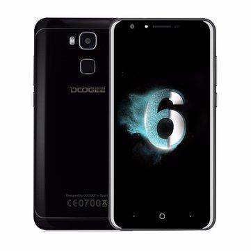 DOOGEE Y6 Piano Black 5.5 Inch Fingerprint 4GB RAM 64GB ROM MTK6750 Octa Core 1.5GHz 4G Smartphone