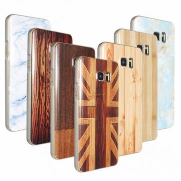 Buy Aluminum Metal Frame+Wood Pattern Hard Back Case Cover Samsung Galaxy Note 5