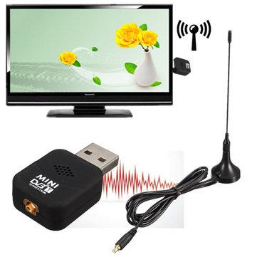 Mini DVB-T USB 2.0 TV HDTV Bacchetta Registratore del Sintonizzatore della Ricevente Digitale con Telecomando