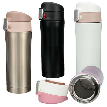 350ml Stainless Steel Thermos Travel Mug Vacuum Flask Bottle Coffee Tea Insulated Cup