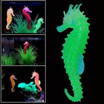 Lumineux hippocampe artificiel simulé respectueux de l'environnement matériel d'aquarium réservoir de poissons décor