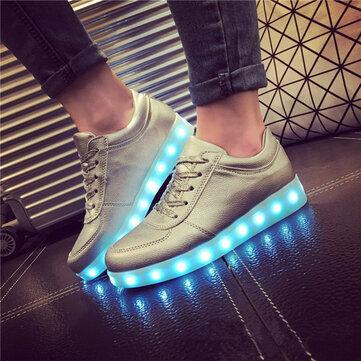 Buy Unisex USB LED Light Lace Luminous Couple Shoes Sportswear Sneaker Casual