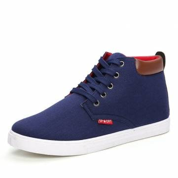 Buy Men Casual High Top Shoes Lace Canvas Sports Athletic Sneakers